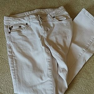 Ralph Lauren White Polo Jeans Size 4 Button Fly